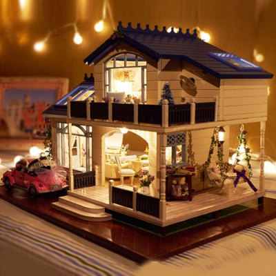 Miniature House Kit with LED Light