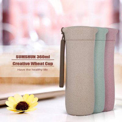 SUMSHUN 360ml Creative Wheat Cup