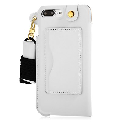 Creative PU Leather Phone Back Case for iPhone 7 PlusiPhone Cases/Covers<br>Creative PU Leather Phone Back Case for iPhone 7 Plus<br><br>Color: Black,Gold,White<br>Compatible for Apple: iPhone 7 Plus<br>Features: Anti-knock, Back Cover, With Lanyard<br>Material: PU Leather<br>Package Contents: 1 x Phone Case<br>Package size (L x W x H): 25.50 x 14.00 x 3.00 cm / 10.04 x 5.51 x 1.18 inches<br>Package weight: 0.089 kg<br>Product size (L x W x H): 16.20 x 9.70 x 1.00 cm / 6.38 x 3.82 x 0.39 inches<br>Product weight: 0.045 kg<br>Style: Cool, Modern