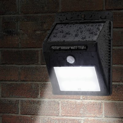 12-LED Smart Waterproof LED Solar Wall Light for Courtyard Stair Door Gate