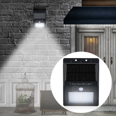 20-LED Solar PIR Wall Light