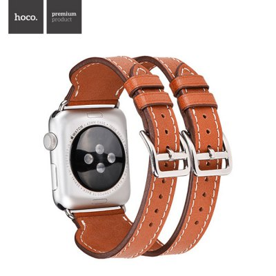 HOCO Genuine Leather Watch Band for Apple Watch 42mmApple Watch Bands<br>HOCO Genuine Leather Watch Band for Apple Watch 42mm<br><br>Brand: Hoco<br>Color: Black,Brown,Red<br>Function: for Apple Watch 42mm<br>Material: Genuine Leather<br>Package Contents: 1 x Watchband<br>Package size: 13.80 x 13.70 x 4.20 cm / 5.43 x 5.39 x 1.65 inches<br>Package weight: 0.108 kg<br>Product size: 21.50 x 3.80 x 0.20 cm / 8.46 x 1.5 x 0.08 inches<br>Product weight: 0.022 kg
