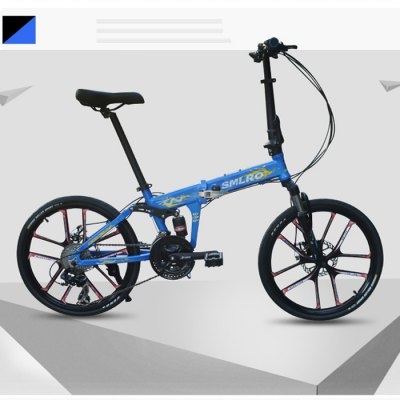 SMLRO MX690 20 inch 24 Speed Folding Mountain BikeBikes<br>SMLRO MX690 20 inch 24 Speed Folding Mountain Bike<br><br>Braking System: Double Disc Brake<br>Brand: SMLRO<br>Frame material: Aluminum Alloy<br>Model Number: MX690 - 24S<br>Package Content: 1 x SMLRO MX690 20 inch 24 Speed Folding Mountain Bike<br>Package size: 86.00 x 35.00 x 62.00 cm / 33.86 x 13.78 x 24.41 inches<br>Package weight: 20.030 kg<br>Product size: 153.00 x 120.00 x 35.00 cm / 60.24 x 47.24 x 13.78 inches<br>Product weight: 15.000 kg<br>Type: Mountain Bike<br>Wheel Size: 20 inches