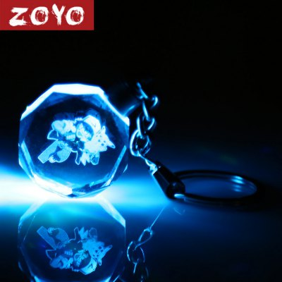 ZOYO Cartoon Character Key Chain with Light Decoration