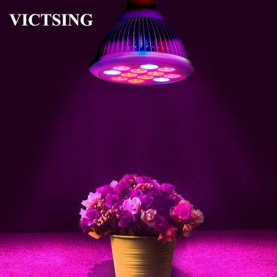 VicTsing E26 36W LED Plant Grow Light Bulb for Garden Greenhouse Seedbed