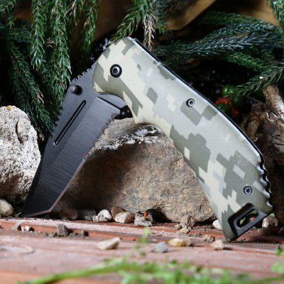 PA65 Liner Lock Folding Knife 440 Stainless Steel Blade