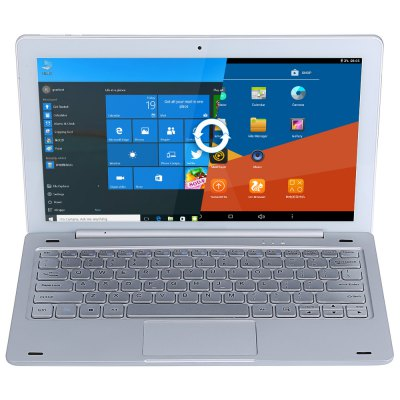 Teclast Tbook 16 Pro 2 in 1 Tablet PC with KeyboardTablet PCs<br>Teclast Tbook 16 Pro 2 in 1 Tablet PC with Keyboard<br><br>3.5mm Headphone Jack: Yes<br>AC adapter: 100-240V 5V 2.5A<br>Additional Features: Wi-Fi, Bluetooth, OTG, MP4, E-book, MP3, HDMI, Gravity Sensing System<br>Battery Capacity(mAh): 3.7V/7200mAh<br>Bluetooth: Yes<br>Brand: Teclast<br>Camera type: Single camera<br>Core: Quad Core, 1.44GHz<br>CPU: Intel Cherry Trail x5-Z8350<br>CPU Brand: Intel<br>DC Jack: Yes<br>Docking Interface: Support<br>E-book format: PDF, TXT, DOC, PowerPoint, Excel, Word<br>External Memory: TF card up to 128GB (not included)<br>Front camera: 2.0MP<br>G-sensor: Supported<br>Google Play Store: Supported<br>GPU: Intel HD Graphic(Gen8)<br>Keyboard: 1<br>MIC: Supported<br>Micro HDMI: Yes<br>Micro USB Slot: Yes<br>MS Office format: Word, PPT, Excel<br>Music format: WMA, WAV, OGG, MP3, 3GP, AAC<br>Office 365: Support (Not Downloaded)<br>OS: Windows 10 + Android 5.1<br>OTG Cable: 1<br>Package size: 34.50 x 23.00 x 10.00 cm / 13.58 x 9.06 x 3.94 inches<br>Package weight: 2.3130 kg<br>Picture format: JPEG, BMP, GIF, JPG, PNG<br>Power Cable: 1<br>Pre-installed Language: Windows OS is built-in Chinese and English, and other languages need to be downloaded by WiFi. Android OS supports multi-language<br>Product size: 29.00 x 18.10 x 0.48 cm / 11.42 x 7.13 x 0.19 inches<br>Product weight: 0.7720 kg<br>RAM: 4GB<br>ROM: 64GB<br>Screen resolution: 1920 x 1080 (FHD)<br>Screen size: 11.6 inch<br>Screen type: Capacitive (10-Point), IPS<br>Skype: Supported<br>Speaker: Supported<br>Support Network: WiFi<br>Tablet PC: 1<br>TF card slot: Yes<br>Type: Tablet PC, With Keyboard<br>USB Cable: 1<br>User Manual (Chinese - English): 1<br>Video format: MP4, 1080P<br>WIFI: 802.11b/g/n wireless internet<br>Youtube: Supported
