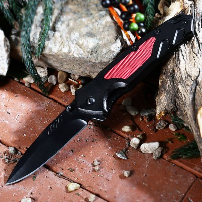 PA36 Liner Lock Folding Knife with Survival Blades