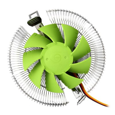F3 Cooler Fan for DesktopCPU Cooler<br>F3 Cooler Fan for Desktop<br><br>Compatible: Inter LGA1366, LGA1150, Inter LGA775, Inter LGA1156, Inter LGA1155, Celeron D, AMD940, AMD939, AMD754, AMD FM1, AMD AM3, AMD AM2+, AMD AM2<br>Fan Pin: 3 pin<br>Mounting Hole Size: 1 x 2cm<br>Noise: 14.2dB<br>Package Contents: 1 x F3 CPU Cooling Fan, 1 x Bracket, 4 x Black Pin, 4 x White Pin, 1 x Thermal Grease<br>Package size (L x W x H): 11.00 x 11.00 x 5.50 cm / 4.33 x 4.33 x 2.17 inches<br>Package weight: 0.207 kg<br>Product weight: 0.147 kg<br>Rated Voltage (V): 12V DC<br>Speed: 2000RPM<br>Type: Cooling Fan