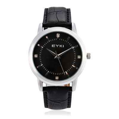 EYKI 8599 Fashion Rhinstone Scale Lady Quartz WatchWomens Watches<br>EYKI 8599 Fashion Rhinstone Scale Lady Quartz Watch<br><br>Band material: Leather<br>Band size: 23.6 x 1.6 cm / 9.29 x 0.63 inches<br>Brand: Eyki<br>Case material: Alloy<br>Clasp type: Pin buckle<br>Dial size: 3 x 3 x 1 cm / 1.18 x 1.18 x 0.39 inches<br>Display type: Analog<br>Movement type: Quartz watch<br>Package Contents: 1 x EYKI 8599 Fashion Lady Quartz Watch, 1 x Box<br>Package size (L x W x H): 8.50 x 8.00 x 5.40 cm / 3.35 x 3.15 x 2.13 inches<br>Package weight: 0.096 kg<br>Product size (L x W x H): 23.60 x 3.00 x 1.00 cm / 9.29 x 1.18 x 0.39 inches<br>Product weight: 0.026 kg<br>Shape of the dial: Round<br>Watch color: Black, White, Rose Gold, Brown<br>Watch style: Fashion<br>Watches categories: Female table<br>Water resistance : 10 meters<br>Wearable length: 17 - 21.2 cm / 6.69 - 8.35 inches