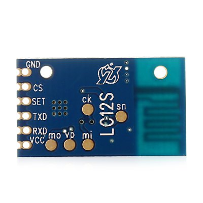 LC12S UART Wireless Serial Pass-through ModuleTransmitters &amp; Receivers module<br>LC12S UART Wireless Serial Pass-through Module<br><br>Package Contents: 1 x Module<br>Package Size(L x W x H): 13.00 x 8.00 x 3.00 cm / 5.12 x 3.15 x 1.18 inches<br>Package weight: 0.030 kg<br>Product Size(L x W x H): 2.40 x 1.40 x 0.20 cm / 0.94 x 0.55 x 0.08 inches<br>Product weight: 0.001 kg<br>Transmission Type: WiFi