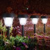cheap 8 x Litom Solar Outdoor LED Path Light Lawn Stake Lamp
