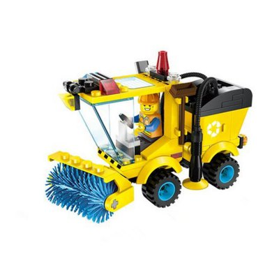 Sweeper Truck Style Building Block Kit