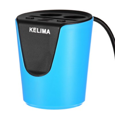 KELIMA Cup Car ChargerCar Charger<br>KELIMA Cup Car Charger<br><br>Apply to: Ipad Mini,iPhone 4/4s/iPod/iPad 2/The New iPad,iPhone 4/4s/iPod/iPad 2/The Nwe iPad,iPhone 5/5S,MP3,MP4,Phones<br>Apply To Car Brand: Universal<br>Brand: KELIMA<br>Cable length: 60cm<br>Input ( Car Charger ): DC 12 - 24V<br>Output ( Car Charger ): 5V / 3.1A<br>Package Contents: 1 x KELIMA Cup Car Charger<br>Package size (L x W x H): 13.00 x 10.00 x 10.00 cm / 5.12 x 3.94 x 3.94 inches<br>Package weight: 0.204 kg<br>Product size (L x W x H): 9.00 x 8.00 x 7.00 cm / 3.54 x 3.15 x 2.76 inches<br>Product weight: 0.143 kg<br>Working Temp.(?): -10 - 45 Deg.C