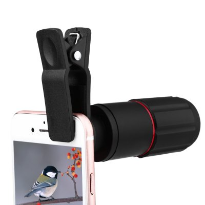 8 x 18 Optical Zoom Mobile Phone TelescopeiPhone Lenses<br>8 x 18 Optical Zoom Mobile Phone Telescope<br><br>Angle of view: 9 degree<br>Lens type: Long Focal(Telephoto Lens)<br>Magnification ?Telephoto Lens ): 8X<br>Material: Optical glass<br>Package Contents: 1 x Mobile Phone Telescope, 1 x Clip Holder, 1 x Cleaning Cloth<br>Package size (L x W x H): 14.00 x 8.10 x 5.60 cm / 5.51 x 3.19 x 2.2 inches<br>Package weight: 0.109 kg<br>Product size (L x W x H): 7.70 x 3.20 x 3.20 cm / 3.03 x 1.26 x 1.26 inches<br>Product weight: 0.044 kg