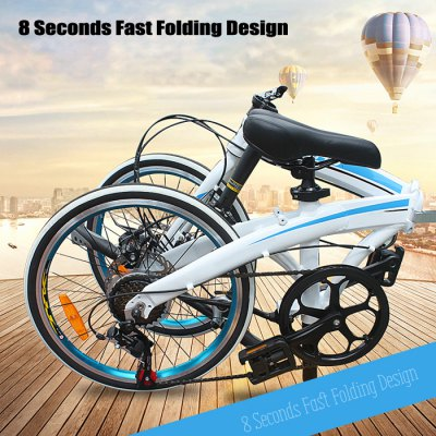 SMLRO MX370 20 inch 7 Speed Ultralight Folding Road BikeBikes<br>SMLRO MX370 20 inch 7 Speed Ultralight Folding Road Bike<br><br>Braking System: Double Disc Brake<br>Brand: SMLRO<br>Frame material: Aluminum Alloy<br>Model Number: MX370<br>Package Content: 1 x SMLRO MX370 20 inch 7 Speed Ultralight Folding Road Bike<br>Package size: 86.00 x 35.00 x 62.00 cm / 33.86 x 13.78 x 24.41 inches<br>Package weight: 15.0000 kg<br>Product size: 153.00 x 120.00 x 35.00 cm / 60.24 x 47.24 x 13.78 inches<br>Product weight: 11.8000 kg<br>Type: Road Bike<br>Wheel Size: 20 inches