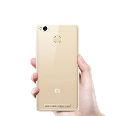 Luanke Transparent TPU Soft Phone Case for Xiaomi Redmi 3S
