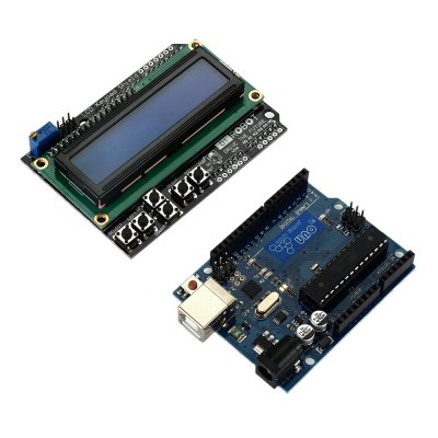 TB - 00015 UNO R3 LCD Keypad Shield ModuleKits<br>TB - 00015 UNO R3 LCD Keypad Shield Module<br><br>Model: TB - 00015<br>Package Contents: 1 x UNO R3 Board, 1 x LCD 1602 Keypad Shield, 1 x USB Cable ( 10 - 80CM )<br>Package Size(L x W x H): 11.00 x 9.00 x 5.50 cm / 4.33 x 3.54 x 2.17 inches<br>Package weight: 0.150 kg<br>Product Size(L x W x H): 8.00 x 6.00 x 2.00 cm / 3.15 x 2.36 x 0.79 inches<br>Product weight: 0.100 kg<br>Suitable for: Arduino