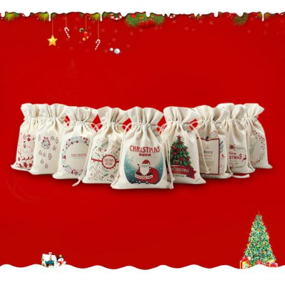 9PCS Christmas Cartoon Present Bags