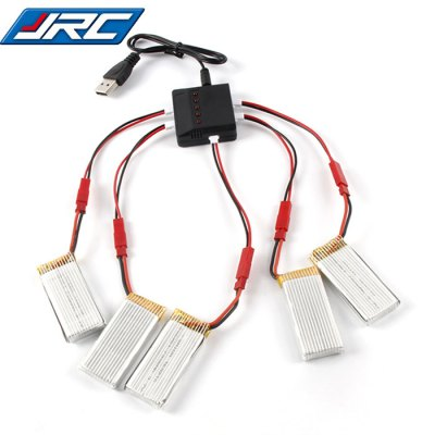 Spare 5 x 3.7V 700mAh Battery + Balance Charger / Cable Set for JXD 509G 510G LIDI L6W L6F JJRC H12W RC Model