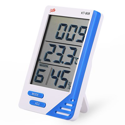 KT-908 5 in 1 Digital Temperature Humidity Meter / Calendar / Clock / Alarm