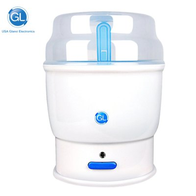 Gland Electronics X - 1 Electric Steam Sterilizer Milk WarmerBaby Gear<br>Gland Electronics X - 1 Electric Steam Sterilizer Milk Warmer<br><br>Brand: Gland Electronics<br>Package Contents: 1 x Sterilizer ( with Charger ), 1 x English User Manual<br>Package size (L x W x H): 23.30 x 23.30 x 32.00 cm / 9.17 x 9.17 x 12.6 inches<br>Package weight: 1.550 kg<br>Product size (L x W x H): 19.00 x 19.00 x 30.00 cm / 7.48 x 7.48 x 11.81 inches<br>Product weight: 1.200 kg<br>Voltage: 220V