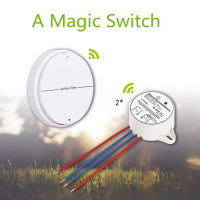 Battery - Free SIM1010 - K22 Wireless Light Switch Two Buttons Operation