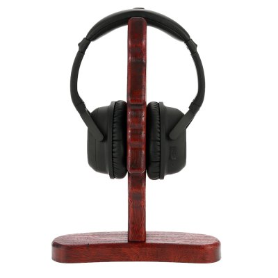 Solid Wood Headphones Stand