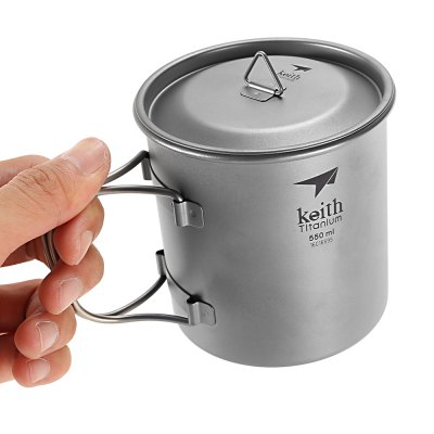 Keith Ti3206 Titanium CupCamp Kitchen<br>Keith Ti3206 Titanium Cup<br><br>Brand: Keith<br>Type: Tableware<br>Material: Titanium<br>Color: Titanium Grey<br>Best Use: Backpacking,Camping,Climbing,Hiking<br>Features: Compact size,Durable,Easy to use,Foldable,Portable,Ultralight<br>Unfolding Dimension: 13.5 x 9.3 x 9.8cm<br>Folding Dimension: 9.3 x 9.3 x 9.8cm<br>Product weight: 0.091 kg<br>Package weight: 0.183 kg<br>Product Dimension: 13.50 x 9.30 x 9.80 cm / 5.31 x 3.66 x 3.86 inches<br>Package Dimension: 10.50 x 10.50 x 12.00 cm / 4.13 x 4.13 x 4.72 inches<br>Package Contents: 1 x Keith Ti3206 Titanium Cup with Cover