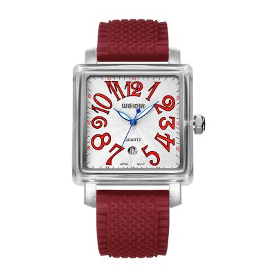 WeiQin 1162 Fashion Unisex Quartz WatchUnisex Watches<br>WeiQin 1162 Fashion Unisex Quartz Watch<br><br>People: Female table,Male table<br>Watch style: Fashion<br>Watch color: Black, White, Orange, Red, Blue<br>Shape of the dial: Square<br>Movement type: Quartz watch<br>Display type: Analog<br>Case material: Stainless Steel<br>Band material: Silicone<br>Clasp type: Pin buckle<br>Water resistance : Life water resistant<br>Special features: Date<br>Dial size: 3.98 x 3.98 x 1.15 cm / 1.57 x 1.57 x 0.45 inches<br>Band size: 26.5 x 2.27 cm / 10.43 x 0.89 inches<br>Product weight: 0.063 kg<br>Package weight: 0.123 kg<br>Product size (L x W x H): 26.50 x 3.98 x 1.15 cm / 10.43 x 1.57 x 0.45 inches<br>Package size (L x W x H): 15.00 x 6.00 x 3.00 cm / 5.91 x 2.36 x 1.18 inches<br>Package Contents: 1 x WeiQin 1162 Fashion Unisex Quartz Watch
