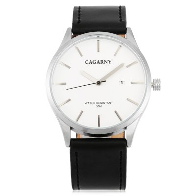 CAGARNY 6865 Casual Men Quartz WatchMens Watches<br>CAGARNY 6865 Casual Men Quartz Watch<br><br>Brand: Cagarny<br>Watches categories: Male table<br>Watch style: Casual<br>Watch color: Black + White, Brown + White, Black, Brown + Black, Black + Red<br>Movement type: Quartz watch<br>Shape of the dial: Round<br>Display type: Analog<br>Case material: Alloy<br>Band material: Leather<br>Clasp type: Pin buckle<br>Special features: Date<br>Water resistance : 30 meters<br>Dial size: 4.2 x 4.2 x 1 cm / 1.65 x 1.65 x 0.39 inches<br>Band size: 25.8 x 2.2 cm / 10.16 x 0.87 inches<br>Wearable length: 18.4 - 23.4 cm / 7.24 - 9.21 inches<br>Product weight: 0.053 kg<br>Package weight: 0.123 kg<br>Product size (L x W x H): 25.80 x 4.20 x 1.00 cm / 10.16 x 1.65 x 0.39 inches<br>Package size (L x W x H): 10.20 x 7.70 x 7.30 cm / 4.02 x 3.03 x 2.87 inches<br>Package Contents: 1 x CAGARNY 6865 Casual Men Quartz Watch, 1 x Box