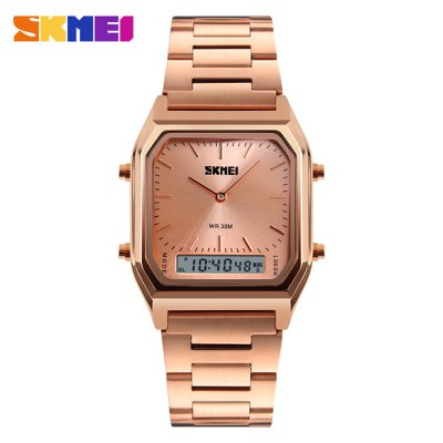 SKMEI 1220 Fashion EL Backlight 30m Waterproof Unisex Watch