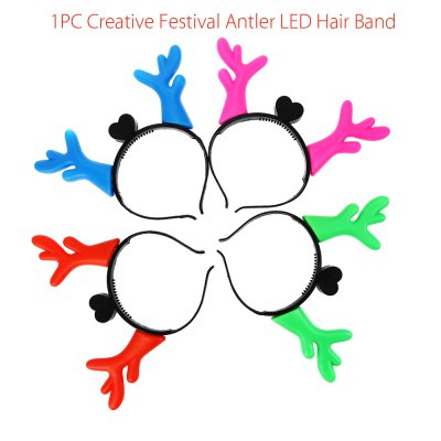 1PC Creative Festival Antler LED Hair Band