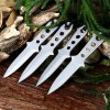 4pcs 440C Stainless Steel Fixed Blade Knife with Storage Bag