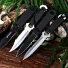 4pcs Stainless Steel Fixed Blade Knife with Storage Bag
