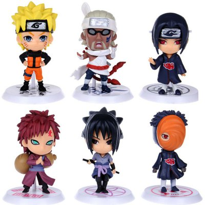 Animation Action Figure PVC + ABS Model - 6pcs / set