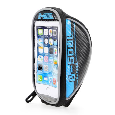 B - SOUL 07152 5.5 inch 1.5L Touch Screen Bicycle Font Bag