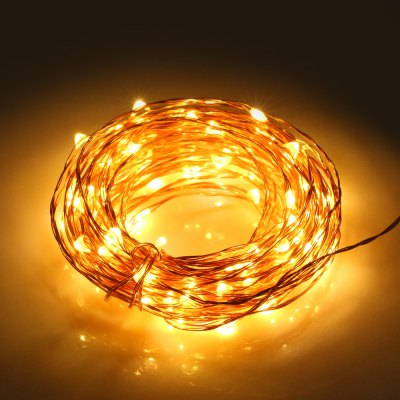 100-LED 10M Christmas LED String LightChristmas Supplies<br>100-LED 10M Christmas LED String Light<br><br>Package Contents: 1 x LED String Light, 1 x US Plug Adapter, 1 x Control Box, 1 x Remote Controller ( with Button Battery )<br>Package size (L x W x H): 20.00 x 8.00 x 6.00 cm / 7.87 x 3.15 x 2.36 inches<br>Package weight: 0.227 kg<br>Product size (L x W x H): 19.00 x 7.00 x 5.00 cm / 7.48 x 2.76 x 1.97 inches<br>Product weight: 0.044 kg