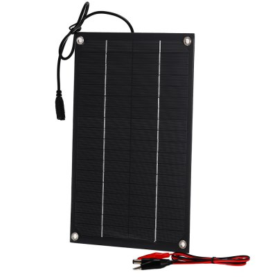 SUNWALK 6W 18V Monocrystalline Silicon Solar Charger PanelChargers &amp; Cables<br>SUNWALK 6W 18V Monocrystalline Silicon Solar Charger Panel<br><br>Brand: SUNWALK<br>Color: Black<br>Connection Type: DC5521 Output<br>Material: PC, Silicon<br>Package Contents: 1 x Monocrystalline Silicon Solar Charger Panel, 1 x Cable<br>Package size (L x W x H): 36.00 x 25.50 x 2.20 cm / 14.17 x 10.04 x 0.87 inches<br>Package weight: 0.188 kg<br>Power: 6W<br>Product size (L x W x H): 27.20 x 18.00 x 0.20 cm / 10.71 x 7.09 x 0.08 inches<br>Product weight: 0.130 kg<br>Type: Solar Chargers