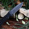 D2 Stainless Steel Fixed Blade Knife with Sheath / Rope photo