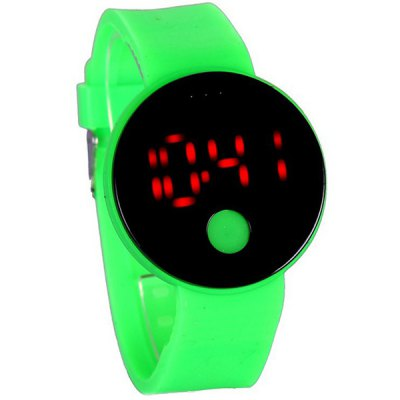 Round Digital LED Watch
