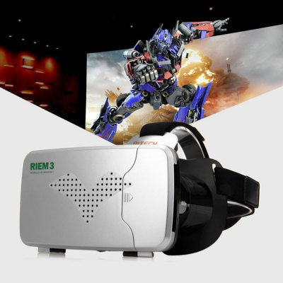RITECH Riem III VR 3D GlassesVR Headset<br>RITECH Riem III VR 3D Glasses<br><br>Brand: RITECH<br>Color: Black,White<br>Compatible with: Smartphones<br>Features: Novel Experience<br>Focus Adjustment: Yes<br>FOV: 90 degrees<br>FOV Range: 80 - 90 degree<br>Games support: Android games<br>Interface: USB<br>IPD (Interpupillary distance): 60 - 76mm<br>IPD Adjustment: Yes<br>Material: Foam, Glass, ABS<br>Model: Riem III<br>Package Contents: 1 x RITECH Riem 3 Virtual Reality 3D VR Glasses, 1 x English / Chinese User Manual<br>Package size (L x W x H): 20.00 x 16.00 x 12.00 cm / 7.87 x 6.3 x 4.72 inches<br>Package weight: 0.4000 kg<br>Primary Button Type: Other<br>Product size (L x W x H): 17.40 x 14.20 x 10.40 cm / 6.85 x 5.59 x 4.09 inches<br>Product weight: 0.2260 kg<br>Smartphone Compatibility: 3.5 - 6.0 inch<br>Space for Glasses: Yes<br>VR Glasses Type: VR Glasses