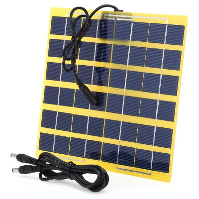 SUNWALK 5W 12V Polycrystalline Silicon Solar Charger PanelChargers &amp; Cables<br>SUNWALK 5W 12V Polycrystalline Silicon Solar Charger Panel<br><br>Brand: SUNWALK<br>Connection Type: DC Output Interface<br>Material: PC, Silicon<br>Package Contents: 1 x Solar Charger Panel, 1 x Cable<br>Package size (L x W x H): 36.50 x 25.50 x 2.30 cm / 14.37 x 10.04 x 0.91 inches<br>Package weight: 0.248 kg<br>Power: 5W<br>Product size (L x W x H): 22.00 x 19.70 x 0.20 cm / 8.66 x 7.76 x 0.08 inches<br>Product weight: 0.170 kg<br>Type: Solar Chargers