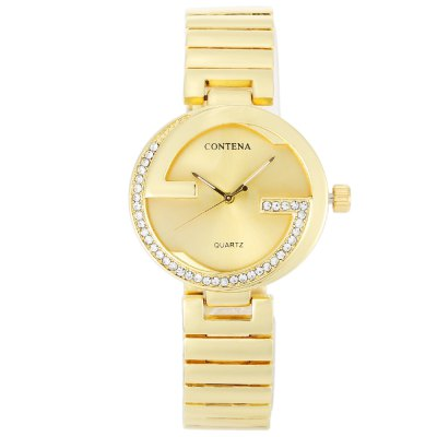CONTENA Fashion Rhinestone Bezel Lady Quartz WatchWomens Watches<br>CONTENA Fashion Rhinestone Bezel Lady Quartz Watch<br><br>Available Color: Gold,Silver<br>Band material: Stainless Steel<br>Band size: 20 x 1.6 cm / 7.87 x 0.63 inches<br>Case material: Stainless Steel<br>Clasp type: Folding clasp with safety<br>Dial size: 3.5 x 3.5 x 0.7 cm / 1.38 x 1.38 x 0.28 inches<br>Display type: Analog<br>Movement type: Quartz watch<br>Package Contents: 1 x CONTENA Fashion Lady Quartz Watch, 1 x Box<br>Package size (L x W x H): 9.00 x 9.00 x 5.60 cm / 3.54 x 3.54 x 2.2 inches<br>Package weight: 0.133 kg<br>Product size (L x W x H): 20.00 x 3.50 x 0.70 cm / 7.87 x 1.38 x 0.28 inches<br>Product weight: 0.071 kg<br>Shape of the dial: Round<br>Watch style: Fashion<br>Watches categories: Female table<br>Water resistance : 100 meters