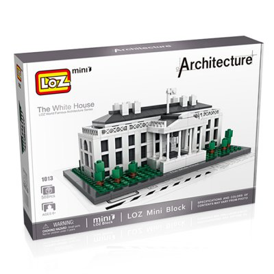 LOZ Architecture ABS Cartoon Building Brick - 588pcsBlock Toys<br>LOZ Architecture ABS Cartoon Building Brick - 588pcs<br><br>Brand: LOZ<br>Completeness: Semi-finished Product<br>Gender: Unisex<br>Materials: ABS<br>Package Contents: 588 x Module, 1 x Operation Instruction<br>Package size: 28.00 x 20.00 x 5.00 cm / 11.02 x 7.87 x 1.97 inches<br>Package weight: 0.400 kg<br>Product size: 16.80 x 8.00 x 7.40 cm / 6.61 x 3.15 x 2.91 inches<br>Product weight: 0.280 kg<br>Stem From: Europe and America<br>Suitable Age: Kid<br>Theme: Buildings<br>Type: Building