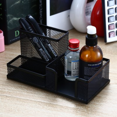 Deli 9175 Combinatorial Pen HolderDesk Organizers<br>Deli 9175 Combinatorial Pen Holder<br><br>Available Color: Black<br>Brand: Deli<br>Material: Metal<br>Package Contents: 1 x Deli 9175 Pen Holder<br>Package size (L x W x H): 21.00 x 11.00 x 10.70 cm / 8.27 x 4.33 x 4.21 inches<br>Package weight: 0.300 kg<br>Product size (L x W x H): 20.00 x 10.00 x 9.70 cm / 7.87 x 3.94 x 3.82 inches<br>Product weight: 0.279 kg