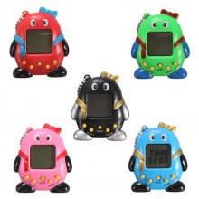 Key Chain Design Nostalgic 49 in 1 Electronic Pet Toy - 1pc