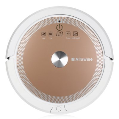 Alfawise A6 Smart Robotic Vacuum CleanerRobot Vacuum<br>Alfawise A6 Smart Robotic Vacuum Cleaner<br><br>Battery Capacity: 3350mAh<br>Battery Type: Ni-MH<br>Battery Voltage: 14.4V<br>Brand: Alfawise<br>Charging Time: 2.5h<br>Color: Pink<br>Function: Sweep, Suction, Mopping<br>LCD Display: Yes<br>Noise (dB): Less than 65dB<br>Package Contents: 1 x Robotic Vacuum Cleaner, 1 x Water Tank, 2 x Side Brush, 1 x Charging Base, 1 x Adapter, 1 x English User Manual<br>Package size (L x W x H): 56.00 x 45.00 x 17.00 cm / 22.05 x 17.72 x 6.69 inches<br>Package weight: 5.0500 kg<br>Product size (L x W x H): 34.00 x 34.00 x 8.00 cm / 13.39 x 13.39 x 3.15 inches<br>Product weight: 3.1000 kg<br>Remote Control: Yes<br>Self Recharging: Yes<br>Suction (pa): 800<br>Working Time: 1h