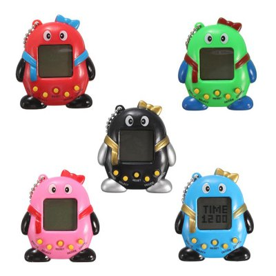 Electronic Pet Game Toy Key Chain - 1pc