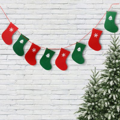 4PCS Christmas 2.5m Cartoon Wave Flag Banner
